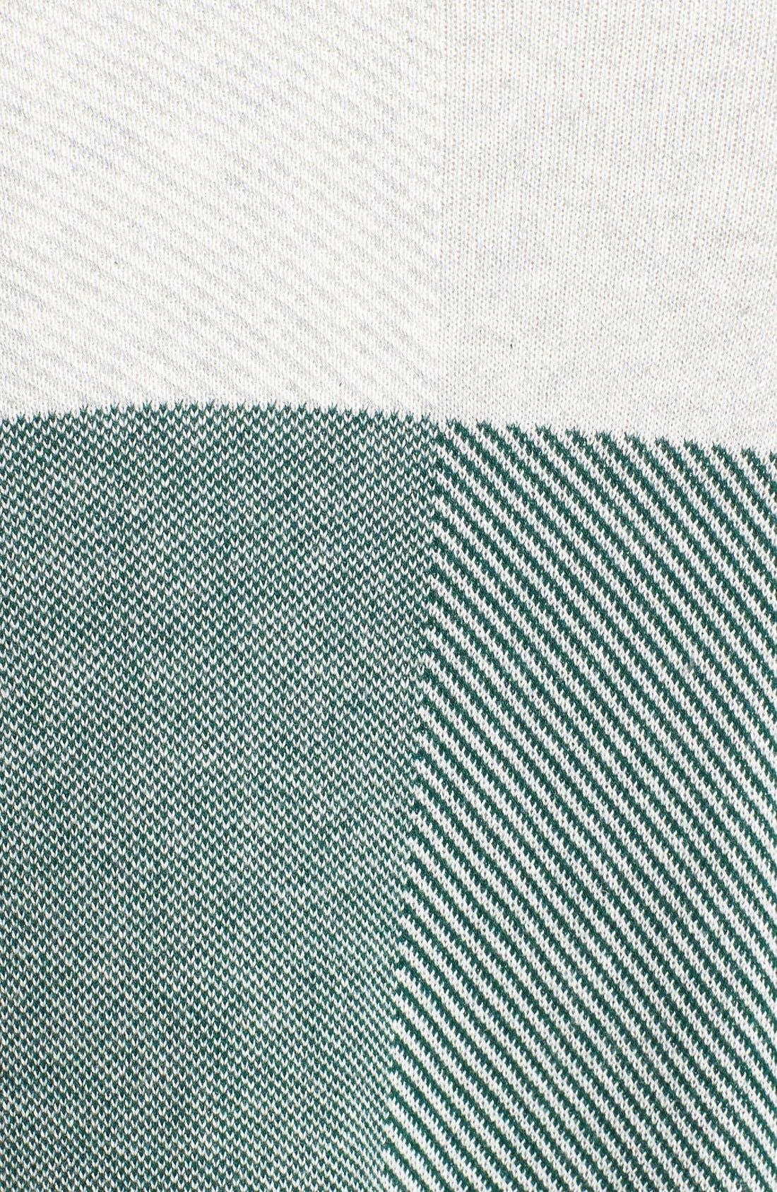 Alternate Image 5  - Chaus Colorblock Jacquard Drape Front Cardigan