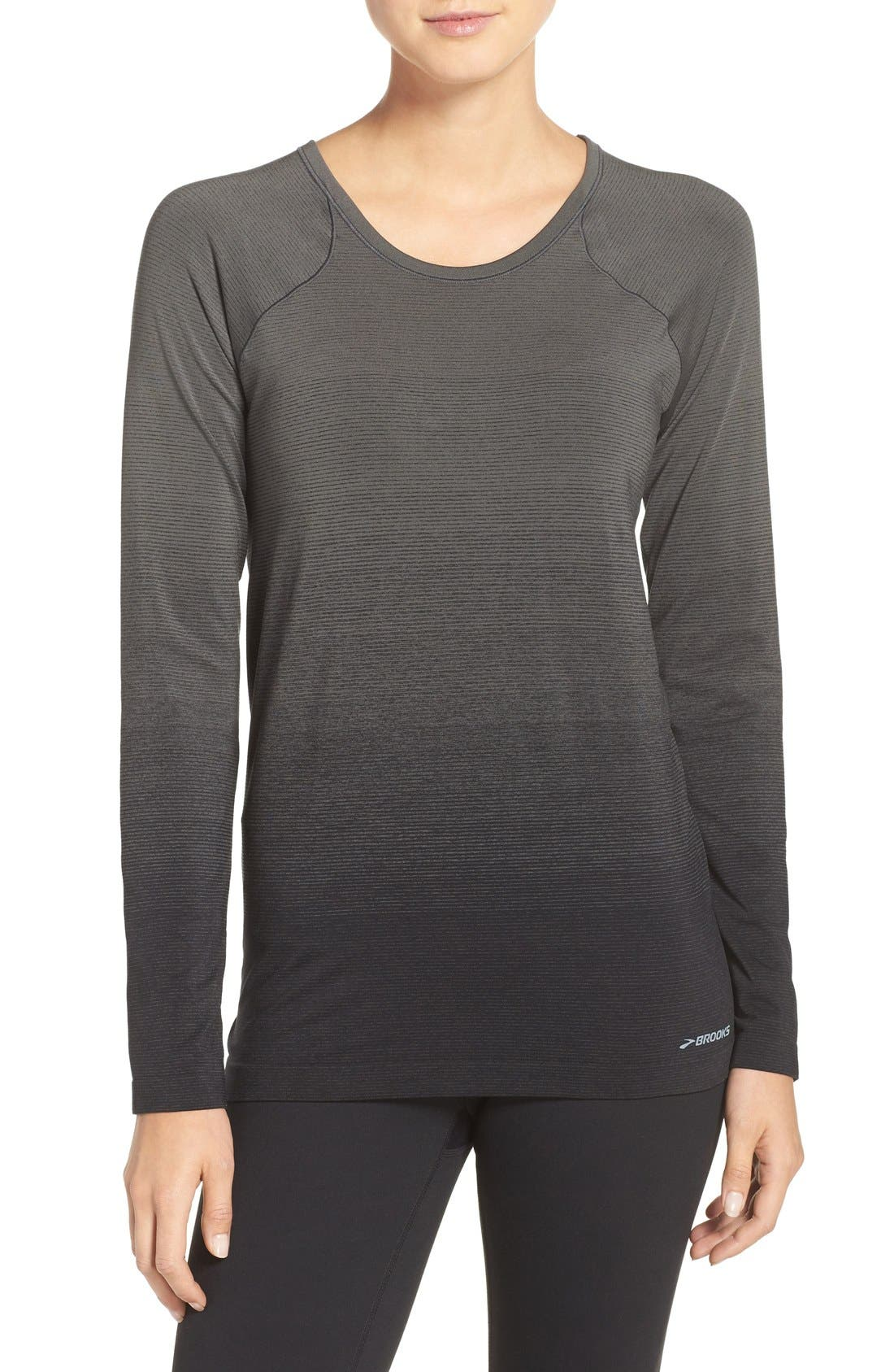 DriLayer Top,                             Main thumbnail 1, color,                             Black/ Oxford
