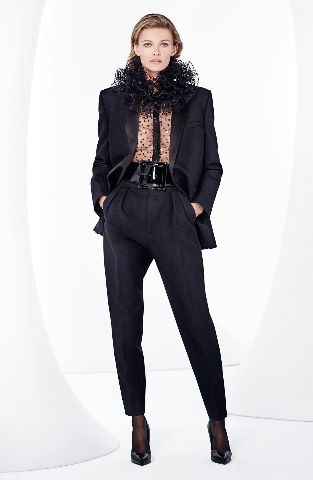 Alternate Image 7  - Saint Laurent One-Button Tuxedo Jacket