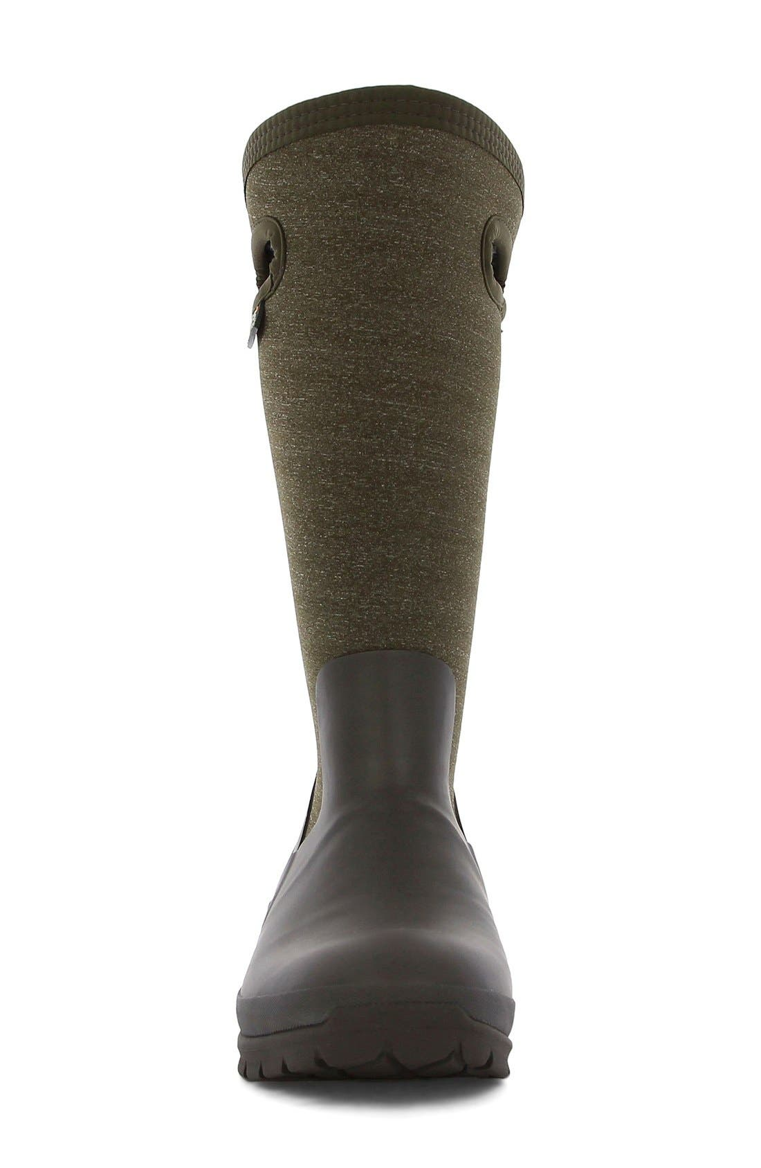 'Crandall' Waterproof Tall Boot,                             Alternate thumbnail 3, color,                             Chocolate Multi