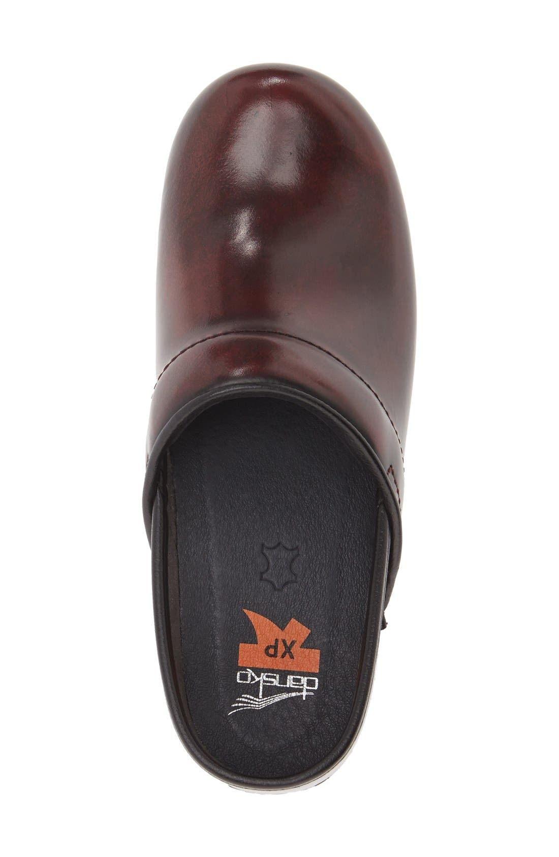 'Pro XP' Patent Leather Clog,                             Alternate thumbnail 3, color,                             Burgundy Cabrio Patent Leather