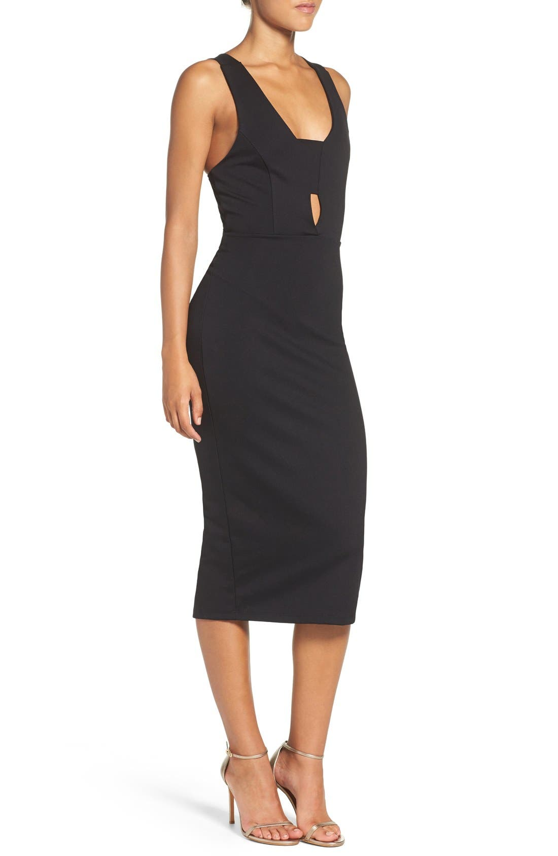 Alternate Image 3  - Fraiche by J Cutout Body-Con Midi Dress