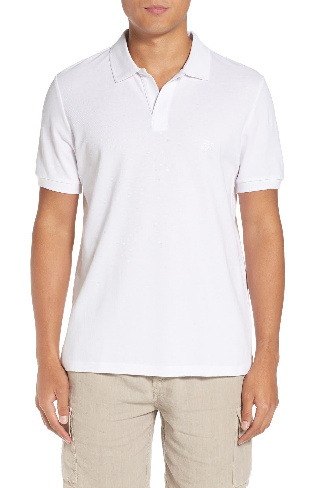 Logo Piqué Polo,                         Main,                         color, White