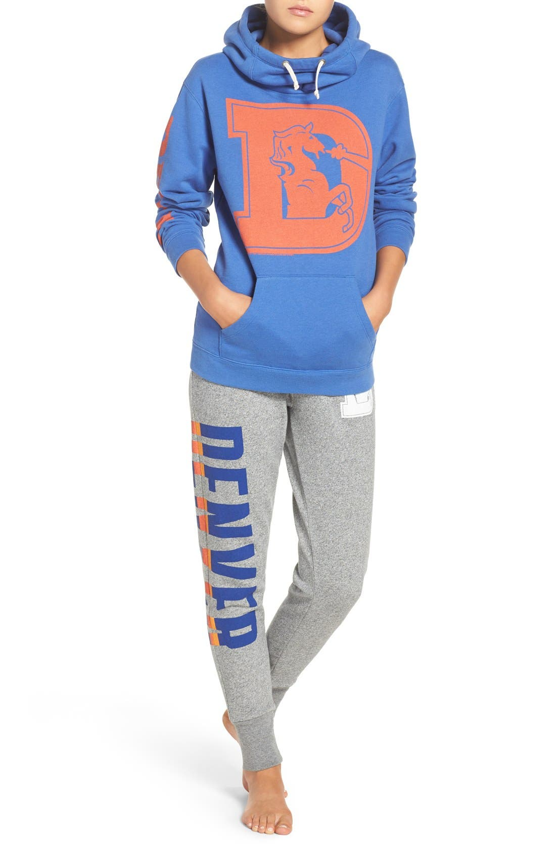 Alternate Image 6  - Junk Food 'Denver Broncos' Hooded Sweatshirt