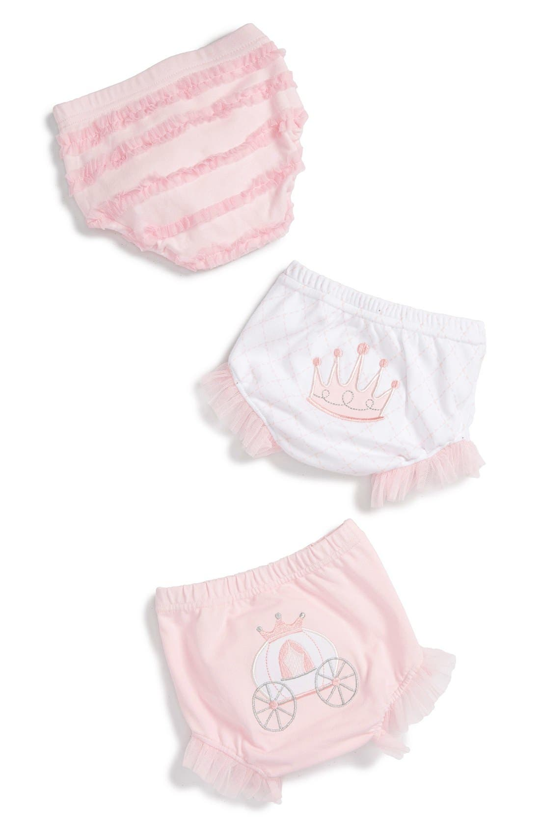 Main Image - Baby Aspen 'Her Royal Hineys' Bloomers (3-Pack) (Baby Girls)