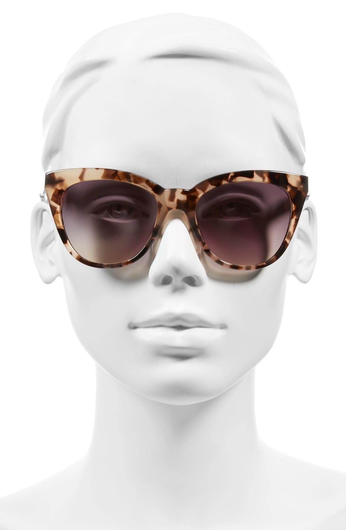 'Lenox' 53mm Cat Eye Sunglasses,                             Alternate thumbnail 2, color,                             Peach Marble