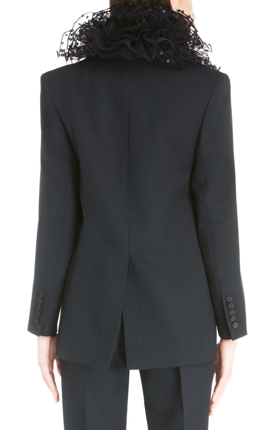 Alternate Image 2  - Saint Laurent One-Button Tuxedo Jacket