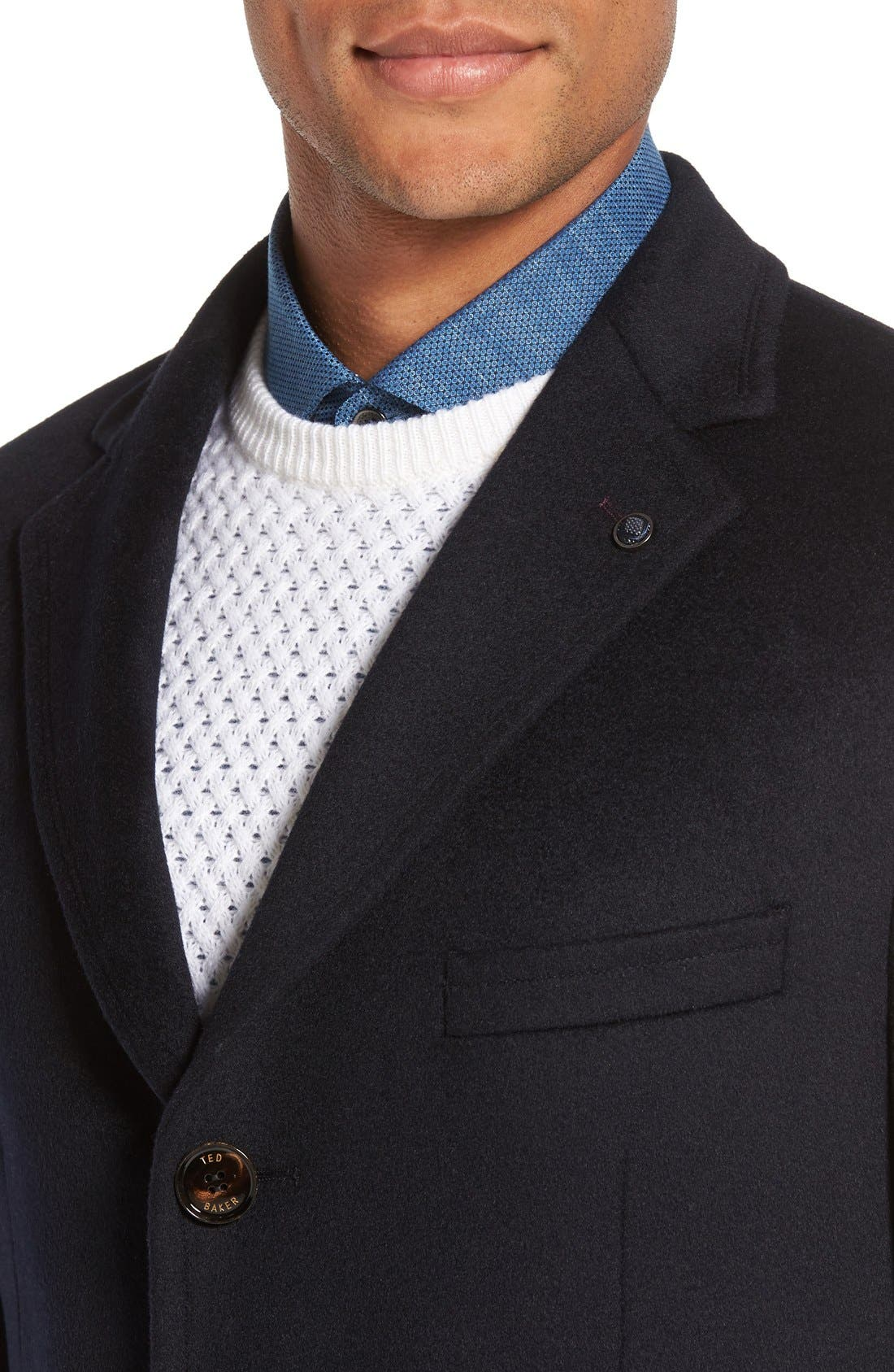 Alternate Image 4  - Ted Baker London Alaska Trim Fit Wool & Cashmere Overcoat
