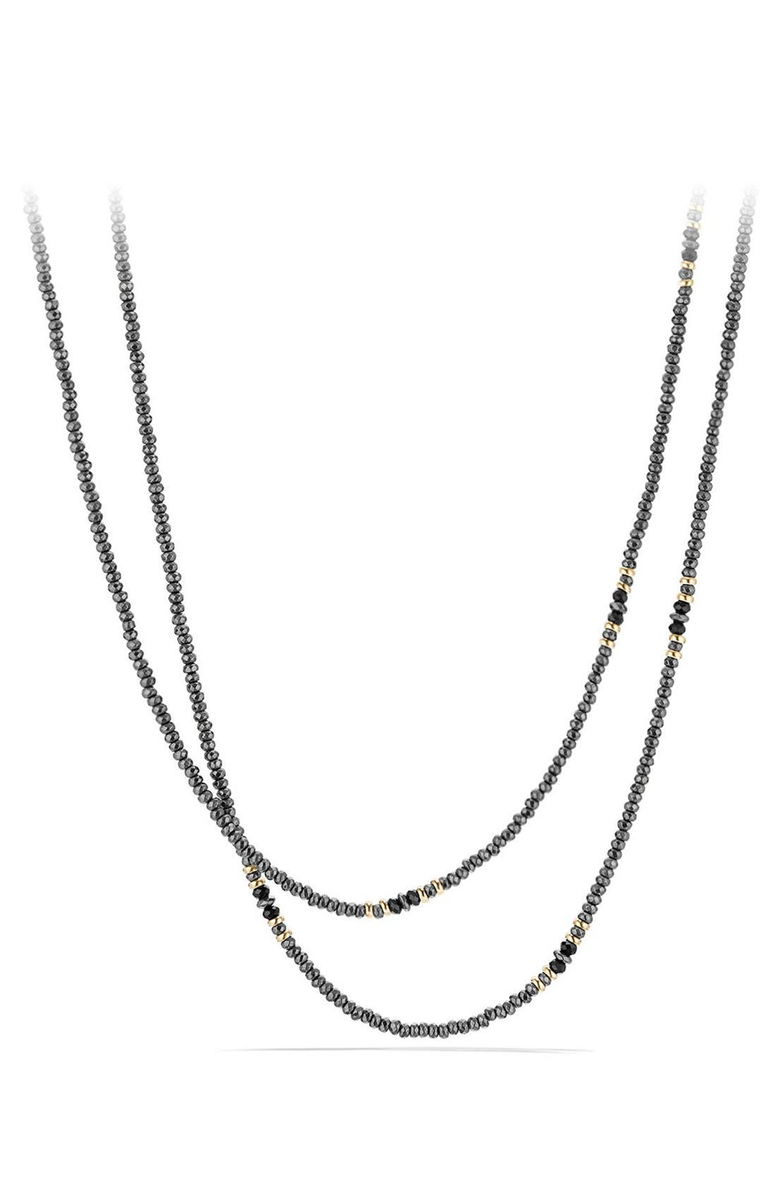 Osetra Tweejoux Necklace with 18K Gold,                         Main,                         color, Hematine