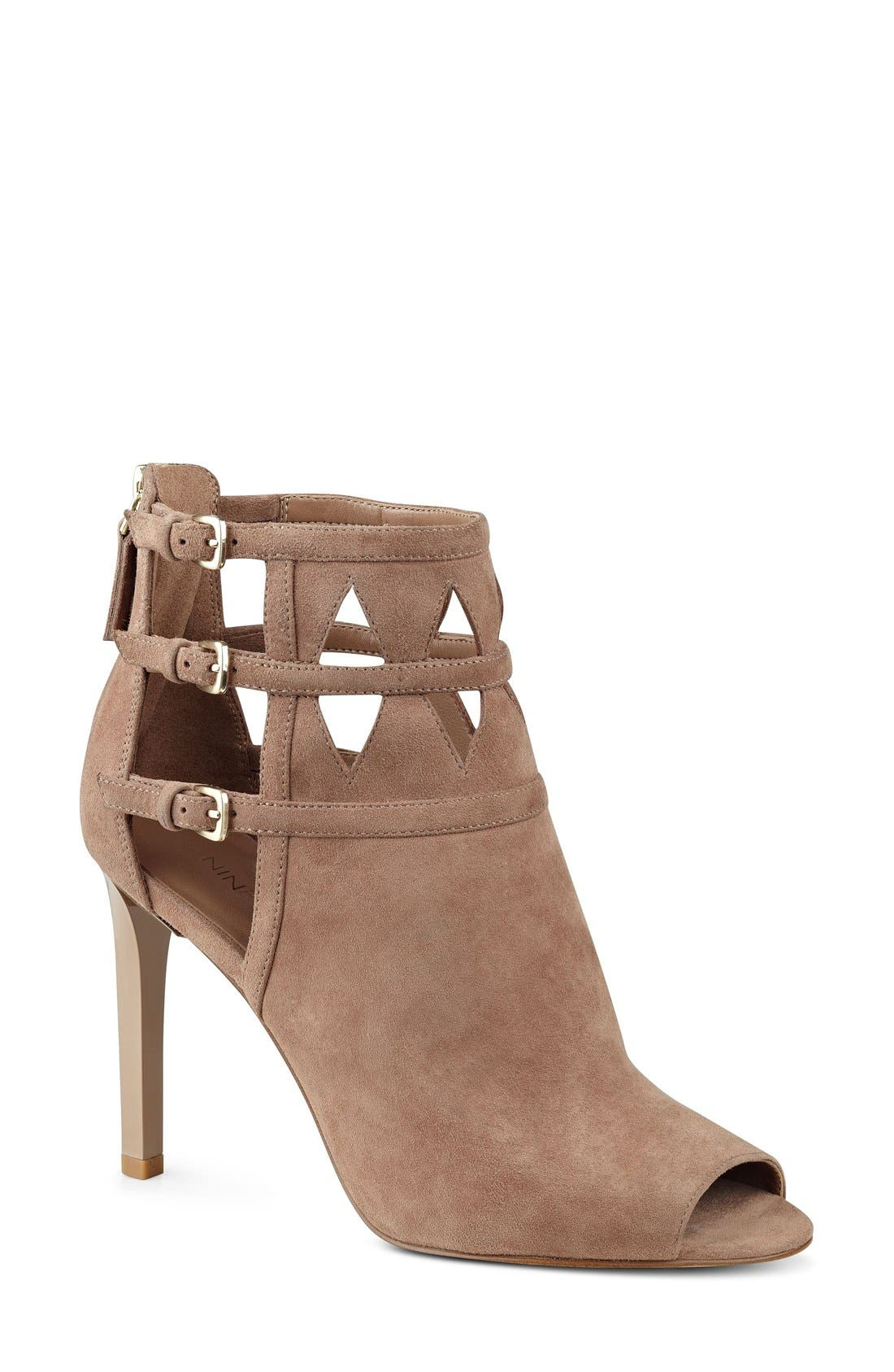 Alternate Image 1 Selected - Nine West 'Laulani' Cutout Peep Toe Bootie (Women)