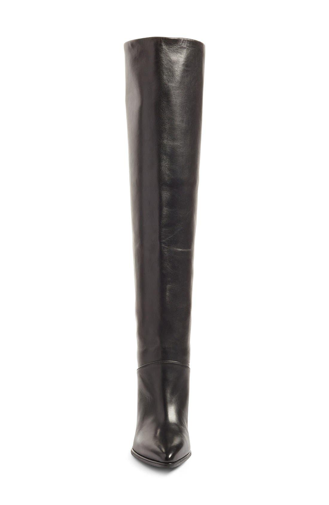 Alternate Image 4  - Stuart Weitzman Scrunchy Leather Knee High Boot (Women)