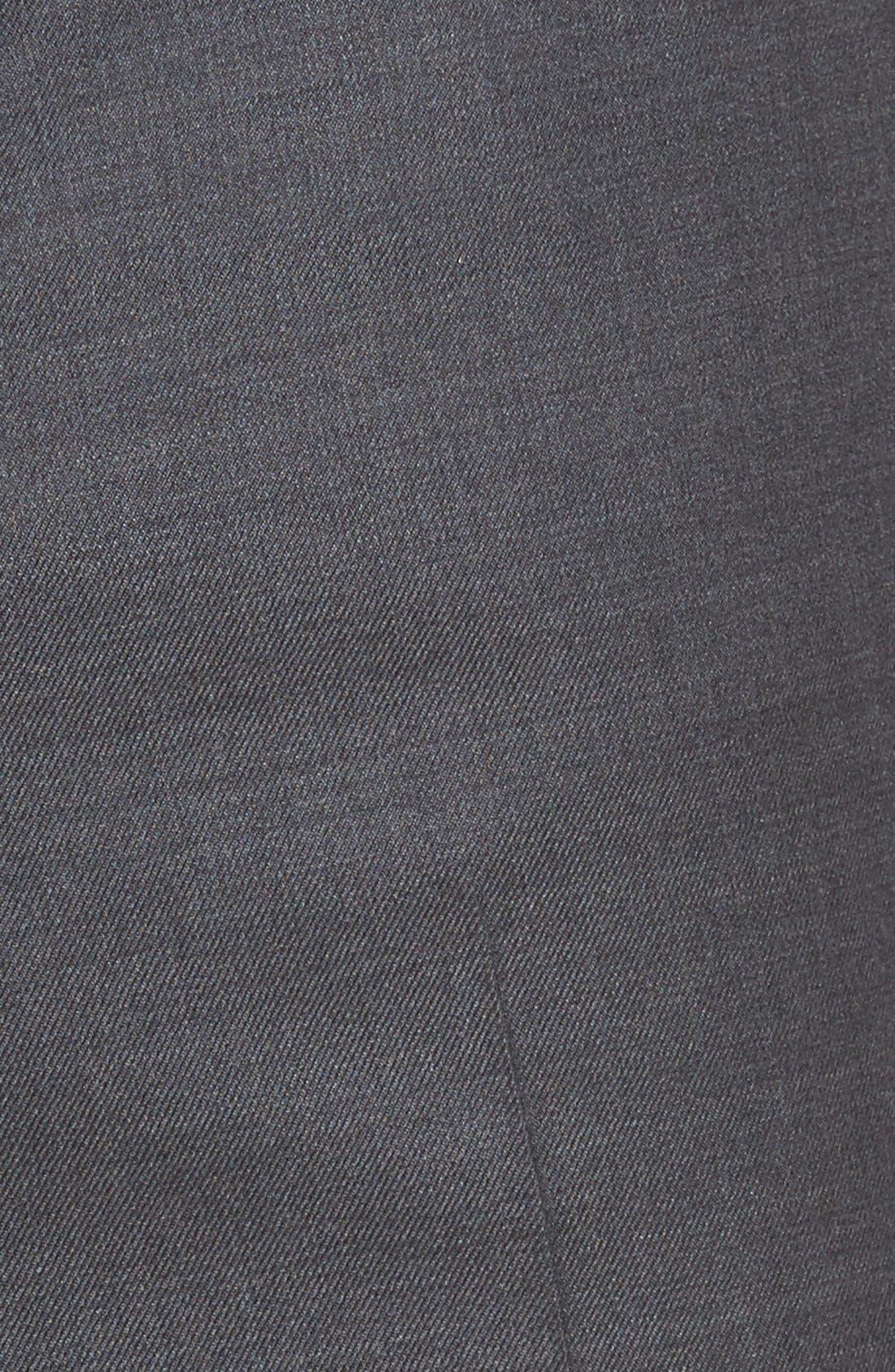 Ryan Regular Fit Wool Trousers,                             Alternate thumbnail 5, color,                             Charcoal