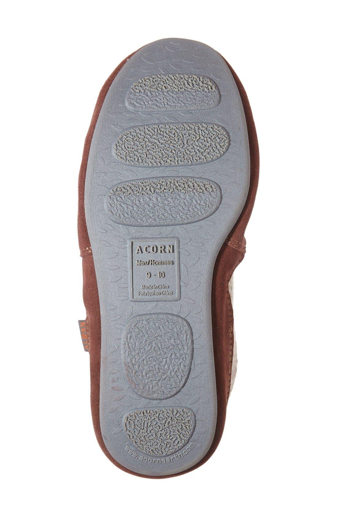 Alternate Image 4  - Acorn 'Slouch Boot' Slipper (Men)