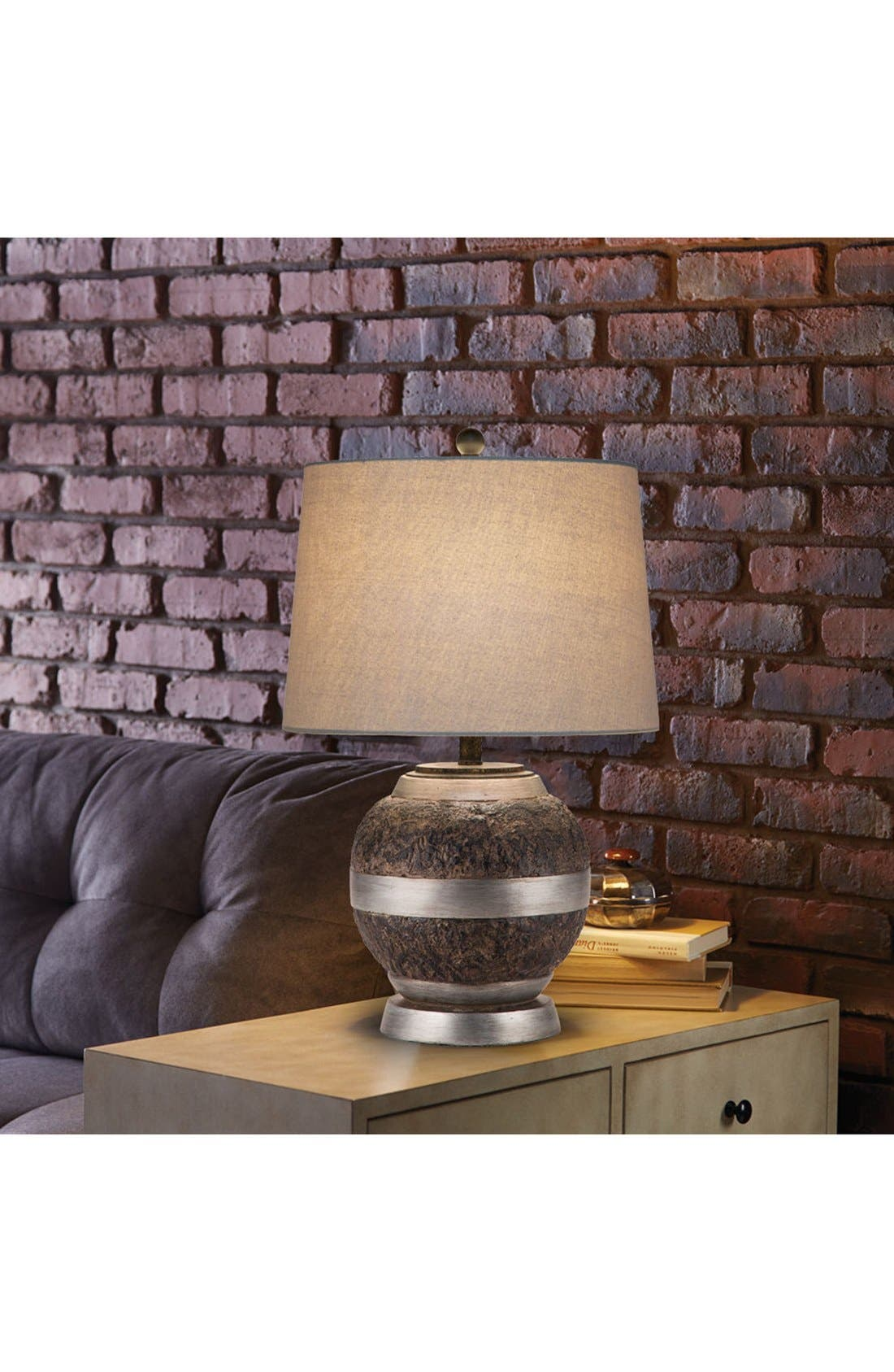 Alternate Image 2  - JAlexander Textured Bronze Finish Table Lamp