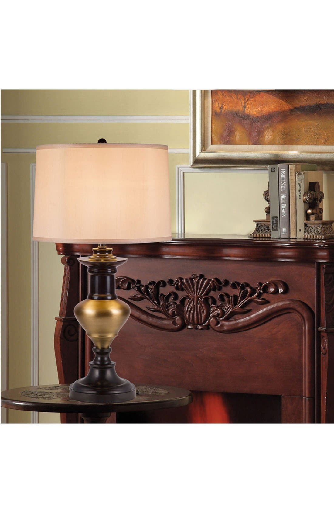 JAlexander 'Traditional' Metal Table Lamp,                             Alternate thumbnail 2, color,                             Brown/ Gold