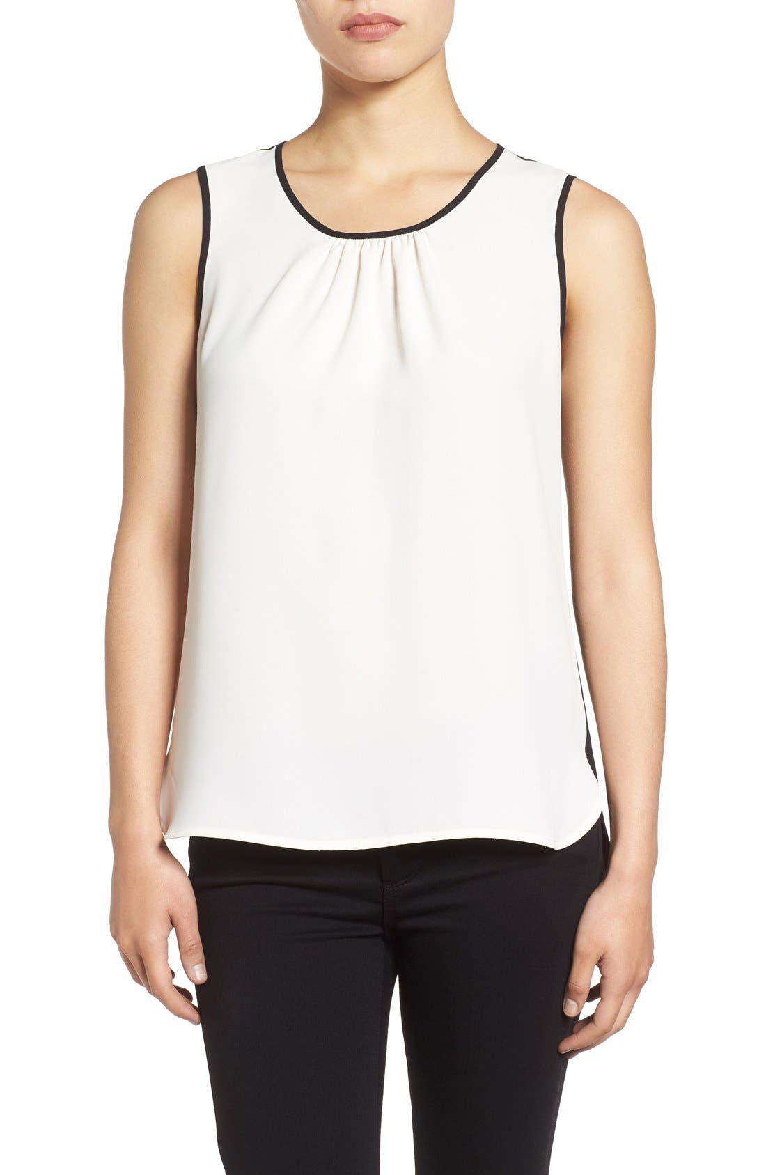 Main Image - Anne Klein Colorblock Sleeveless Shell