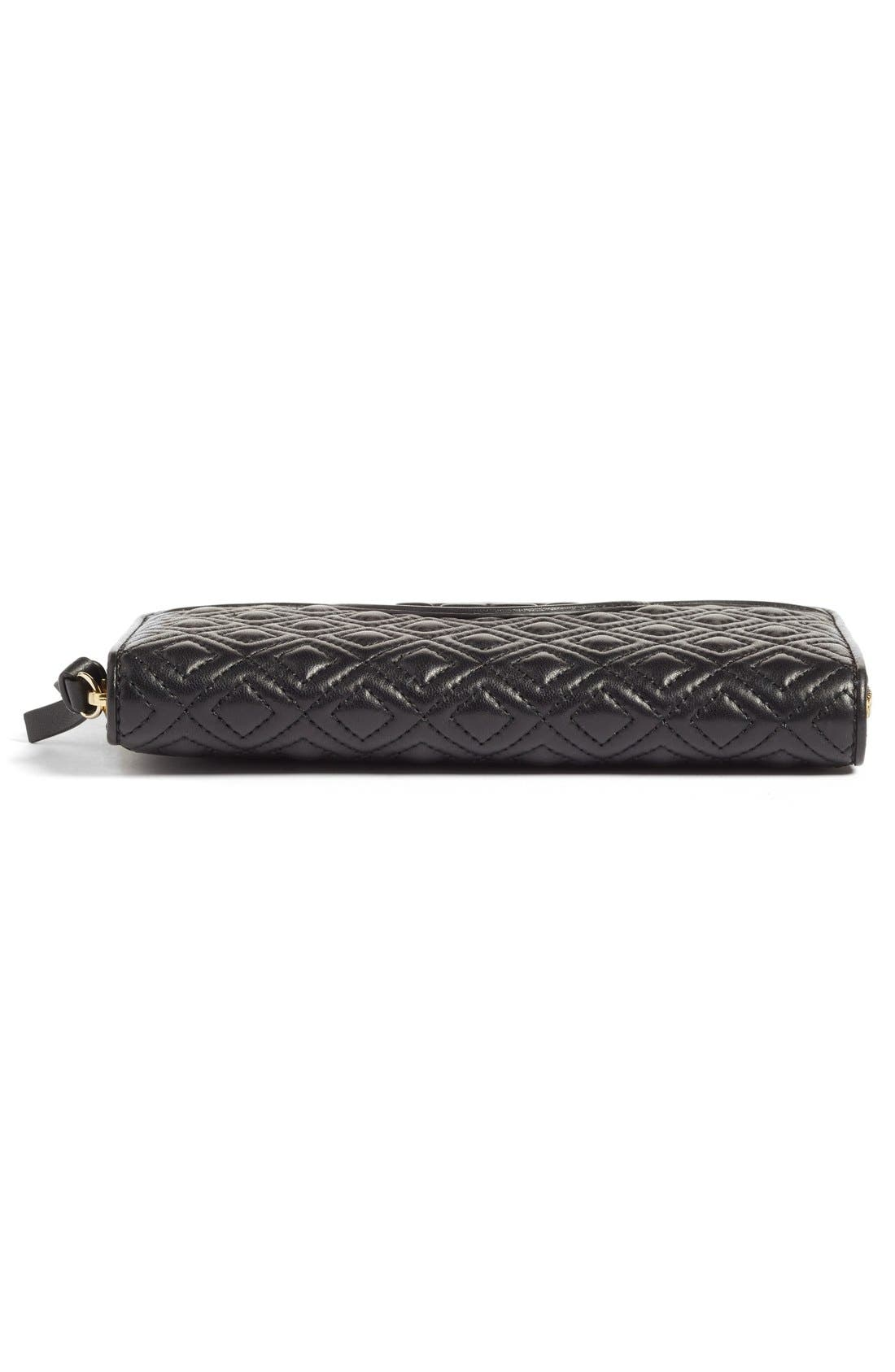 Alternate Image 6  - Tory Burch 'Fleming' Quilted Lambskin Leather Continental Wallet