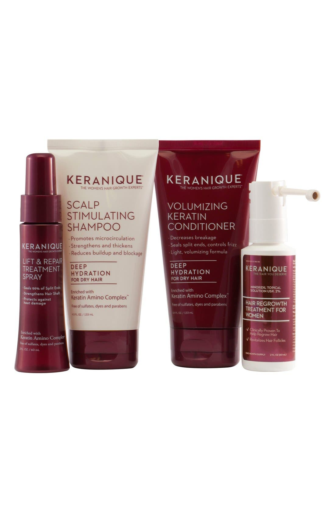 Keranique Deluxe Regrowth Treatment & Deep Hydration Set ($73 Value)