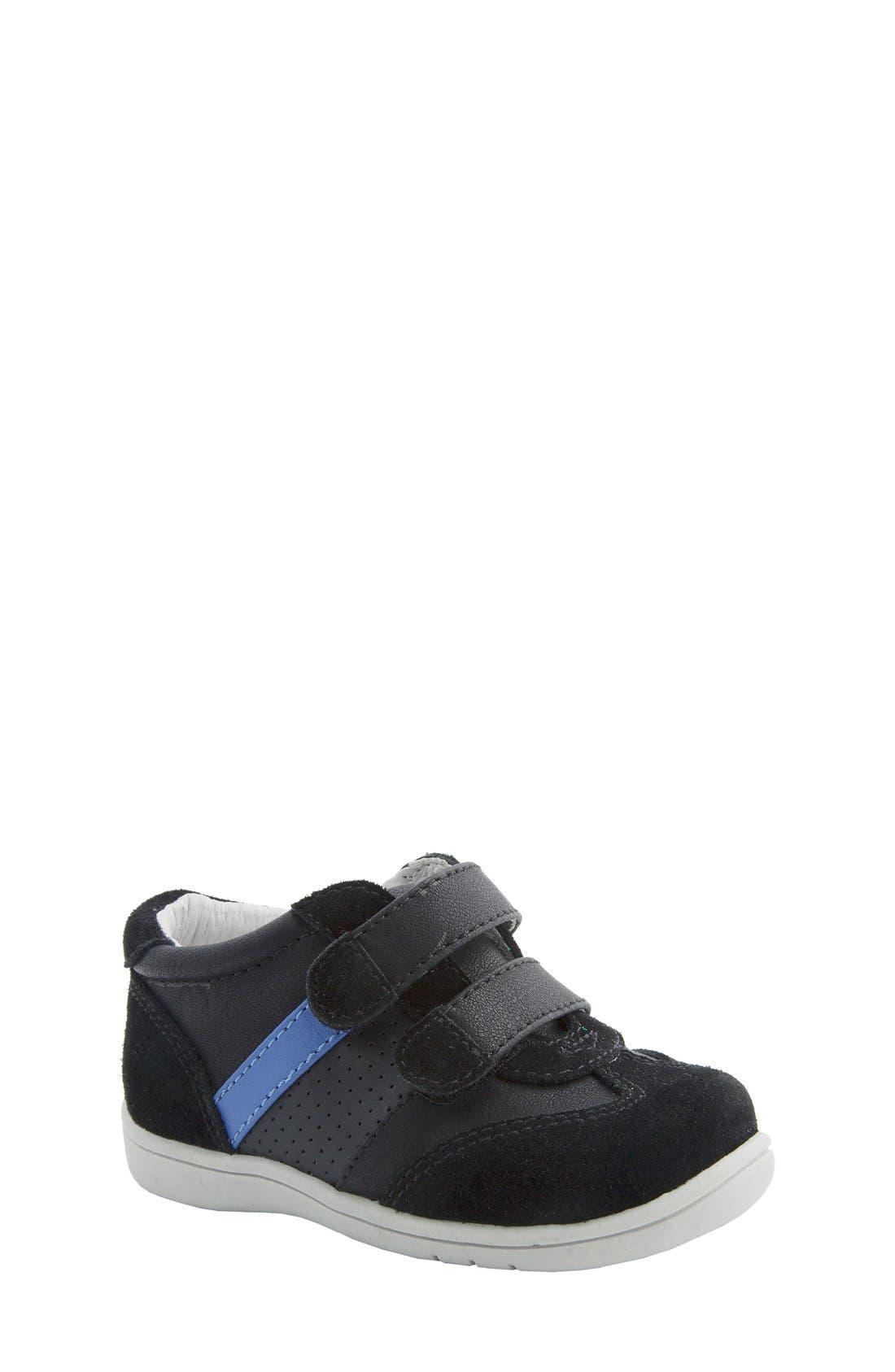 Nina 'Everest' Sneaker,                         Main,                         color, Black Burnished