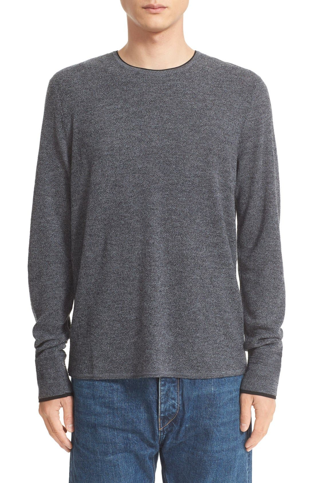 'Giles' Lightweight Merino Wool Pullover,                         Main,                         color, Charcoal