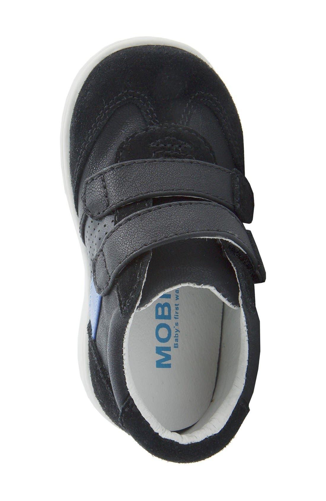 Nina 'Everest' Sneaker,                             Alternate thumbnail 4, color,                             Black Burnished