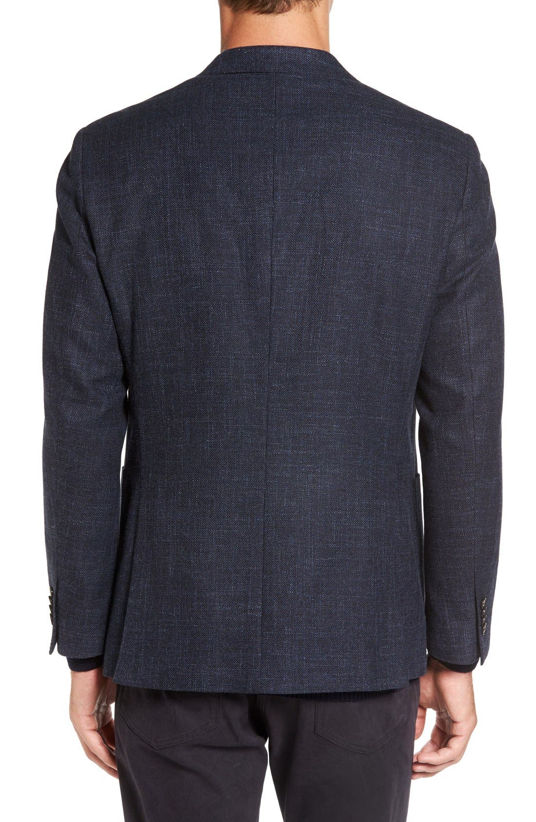 'Heaton' Sports Fit Cotton & Wool Sport Coat,                             Alternate thumbnail 2, color,                             Navy
