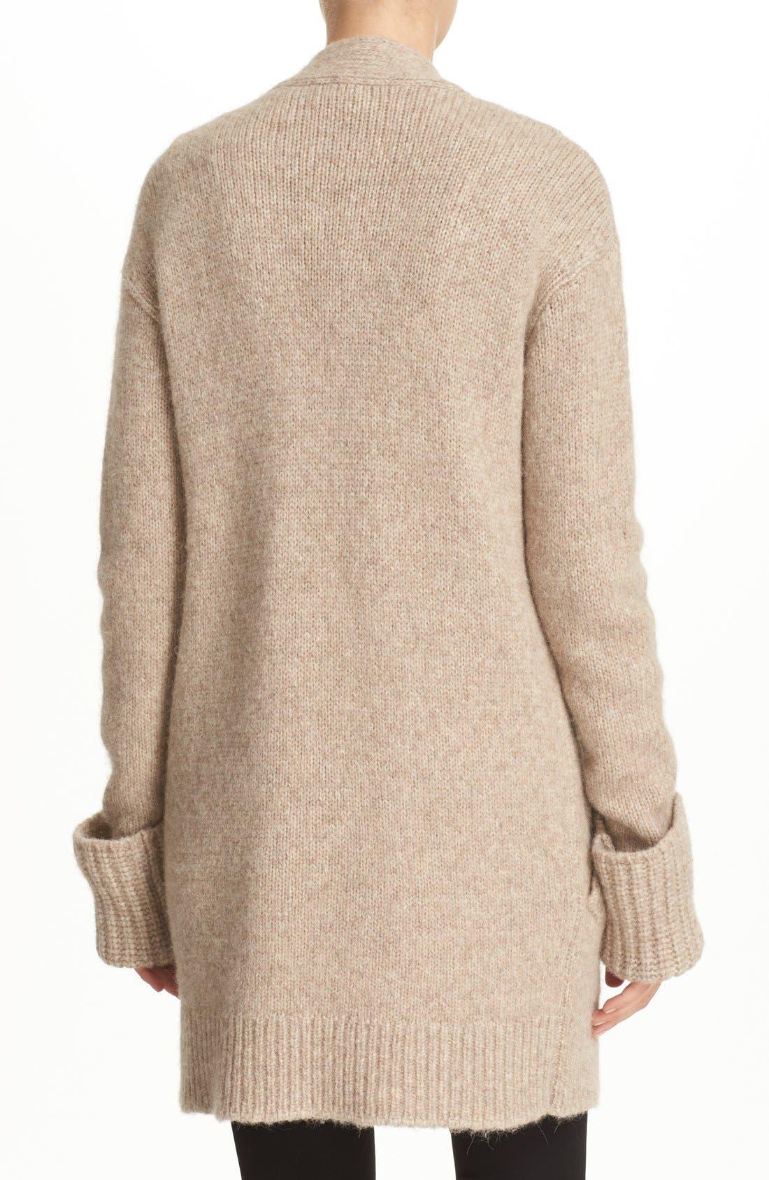 Alternate Image 2  - Theory 'Analiese B Hazy' Alpaca Blend Open Front Cardigan