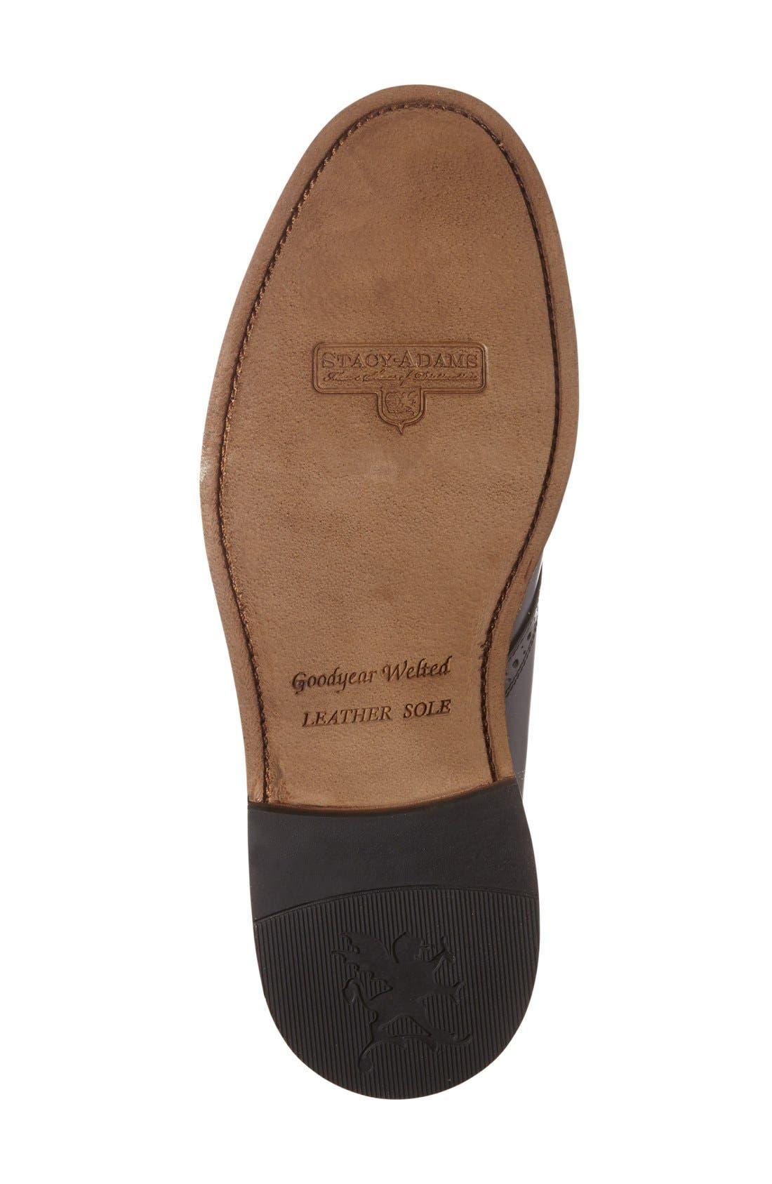 'Madison II' Chukka Boot,                             Alternate thumbnail 4, color,                             Black Smooth Leather