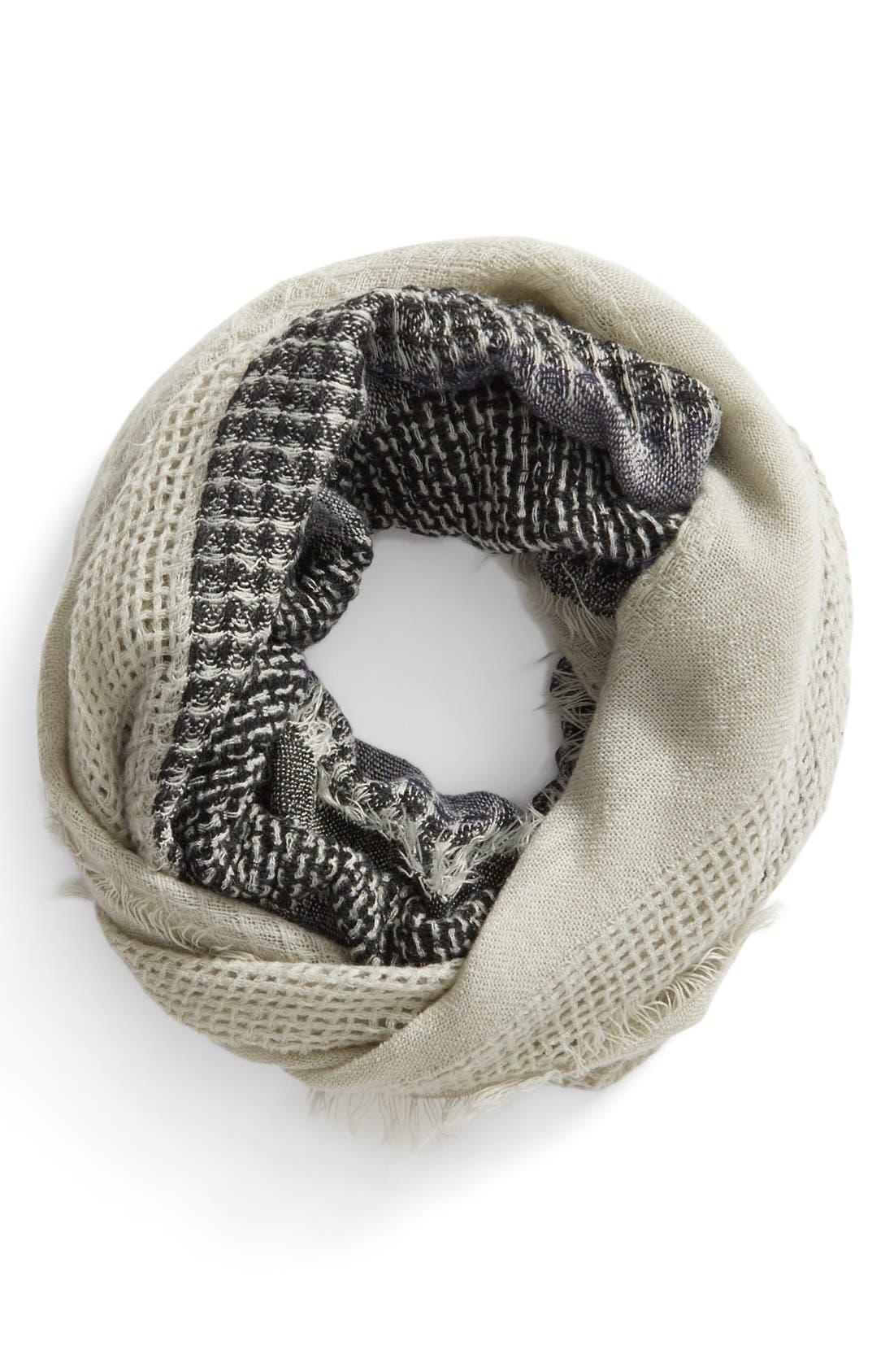 Main Image - BP. Stripe Open Weave Infinity Scarf