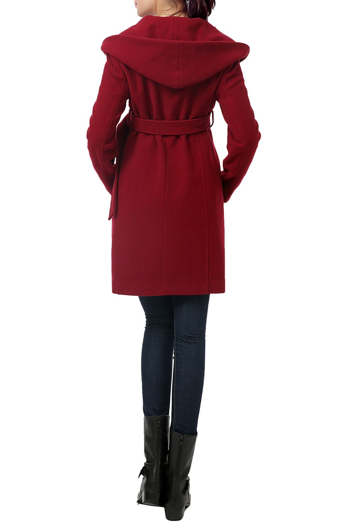 Alternate Image 2  - Kimi and Kai 'Lora' Wool Blend Maternity Coat