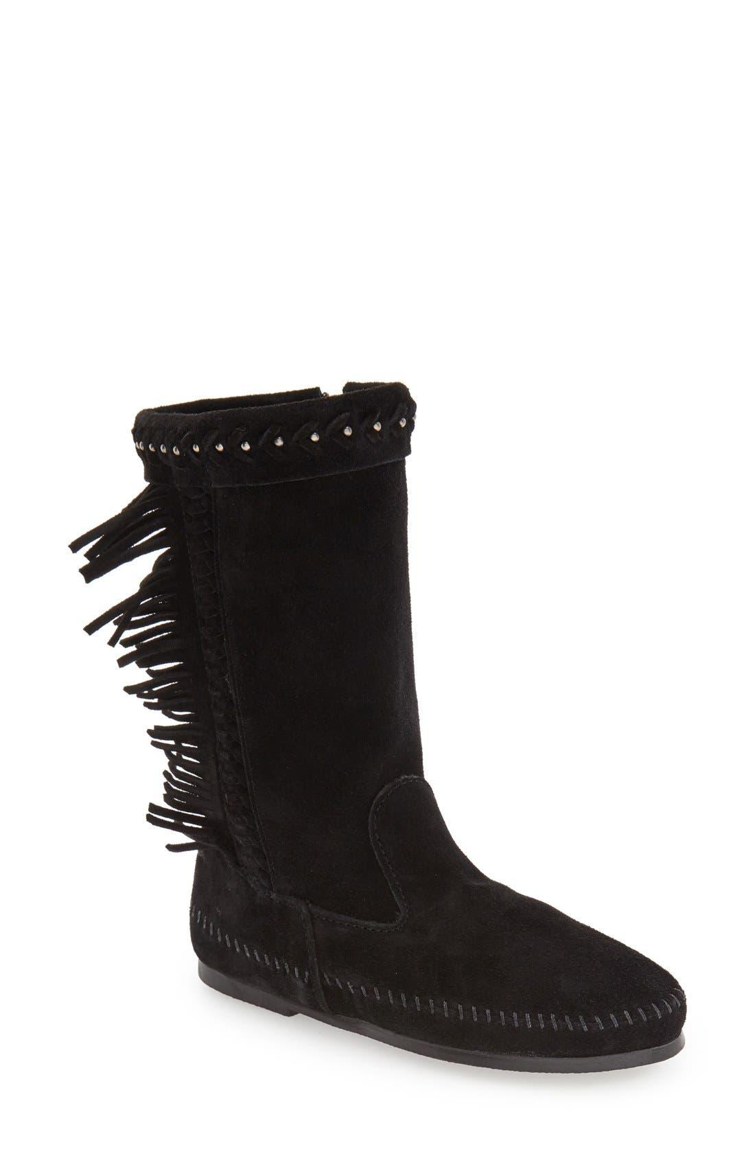 Minnetonka 'Luna' Fringe Boot (Women)