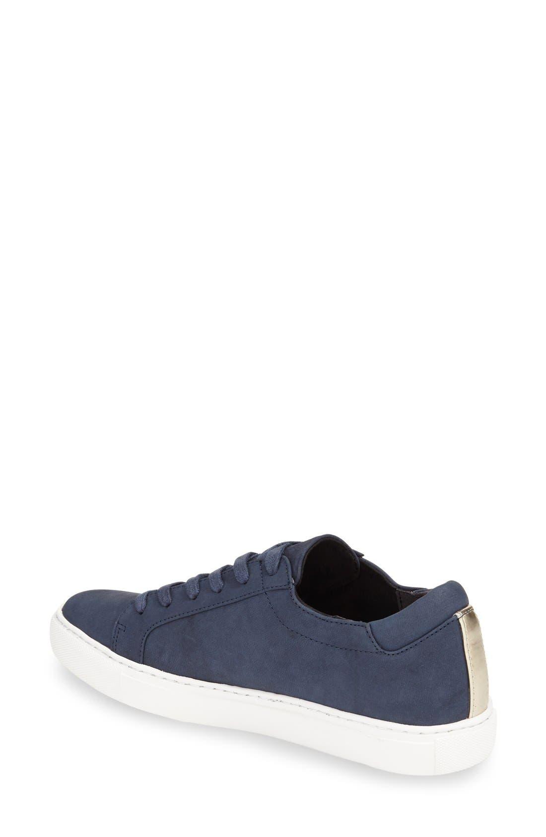 'Kam' Sneaker,                             Alternate thumbnail 2, color,                             Navy Nubuck Leather