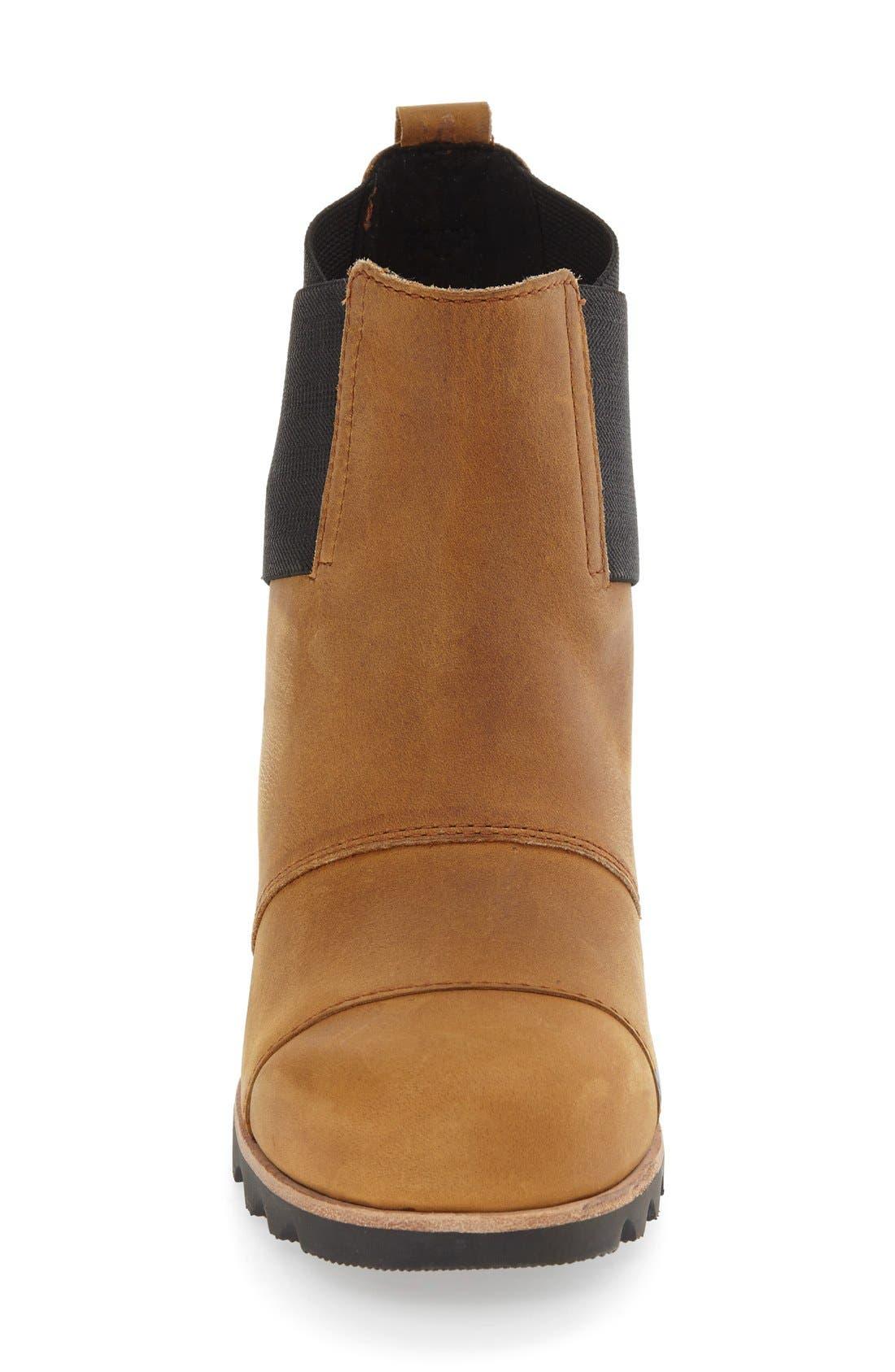 'Addington' Waterproof Chelsea Boot,                             Alternate thumbnail 3, color,                             Autumn Bronze