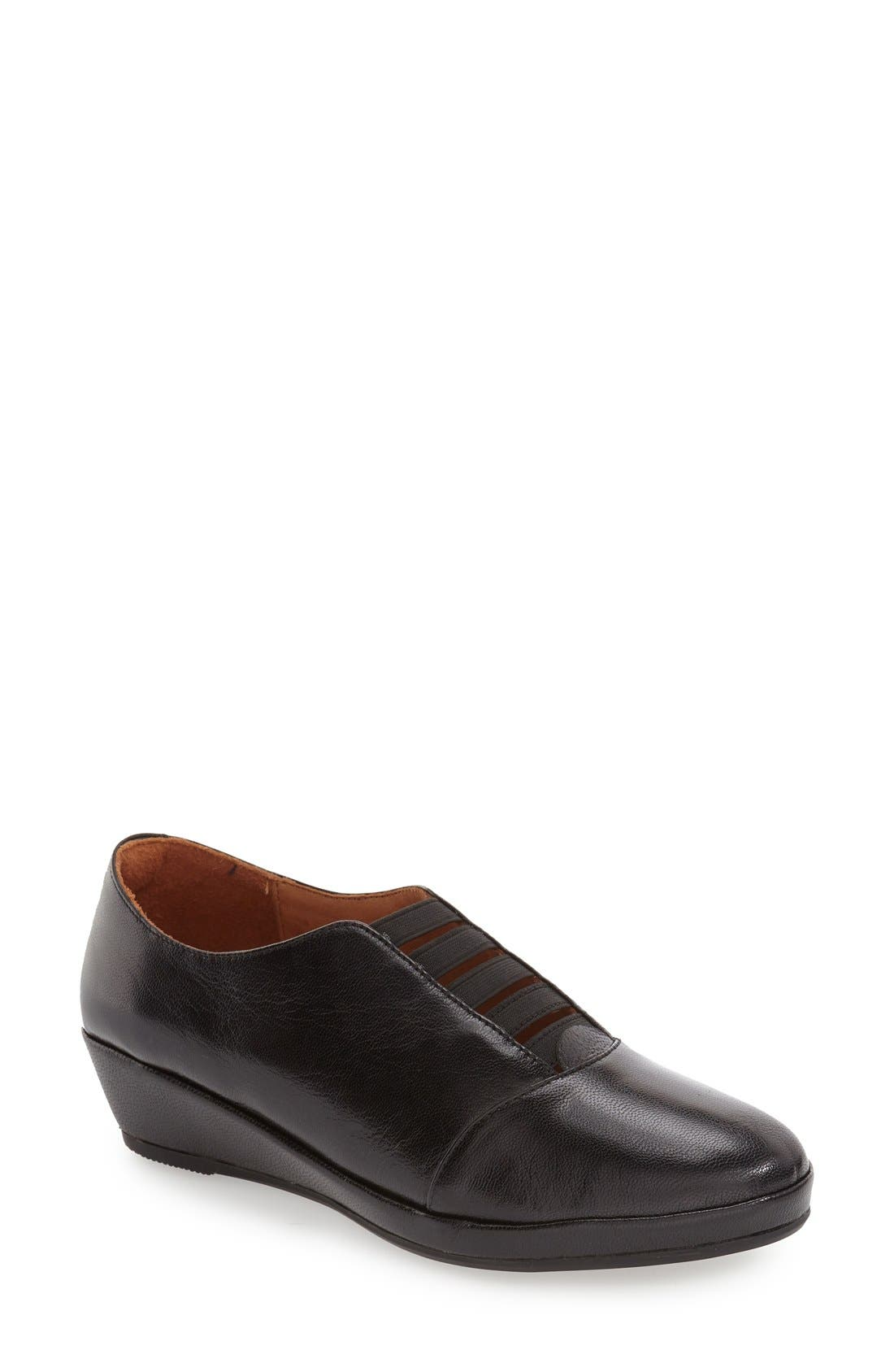 'Beziers' Slip-On,                             Main thumbnail 1, color,                             Black Leather