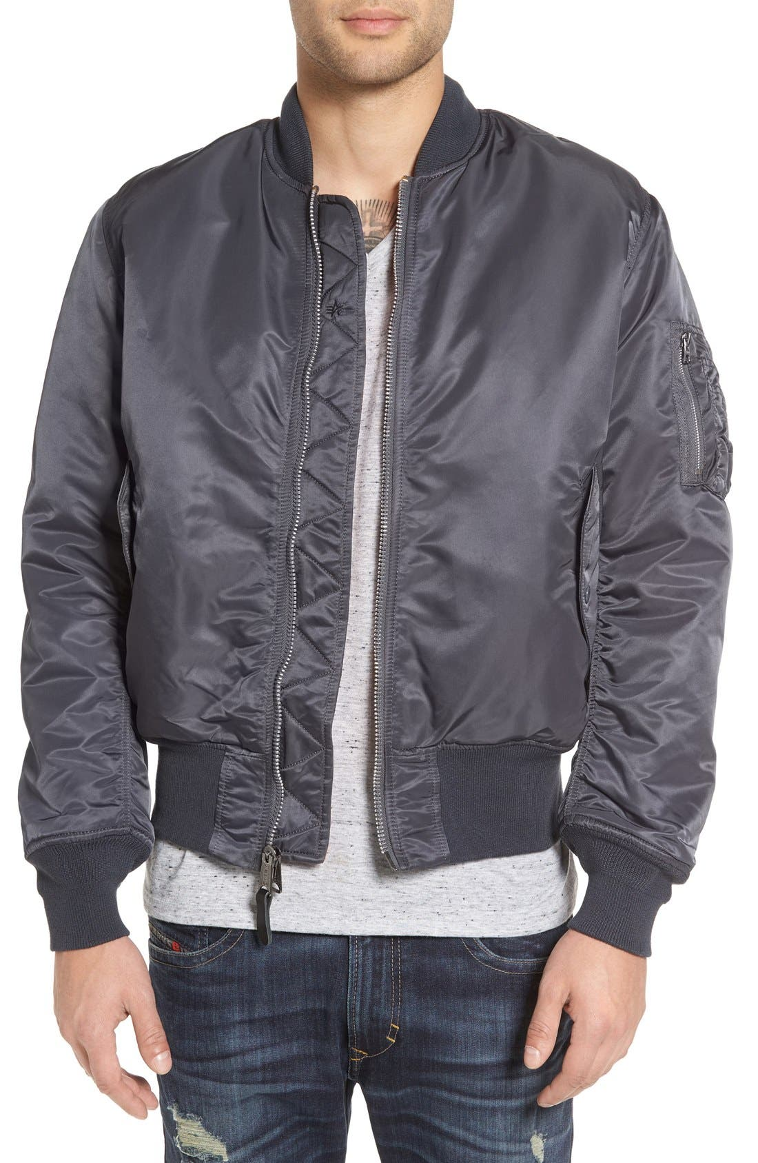 Alpha Industries 'MA-1' Slim Fit Bomber Jacket