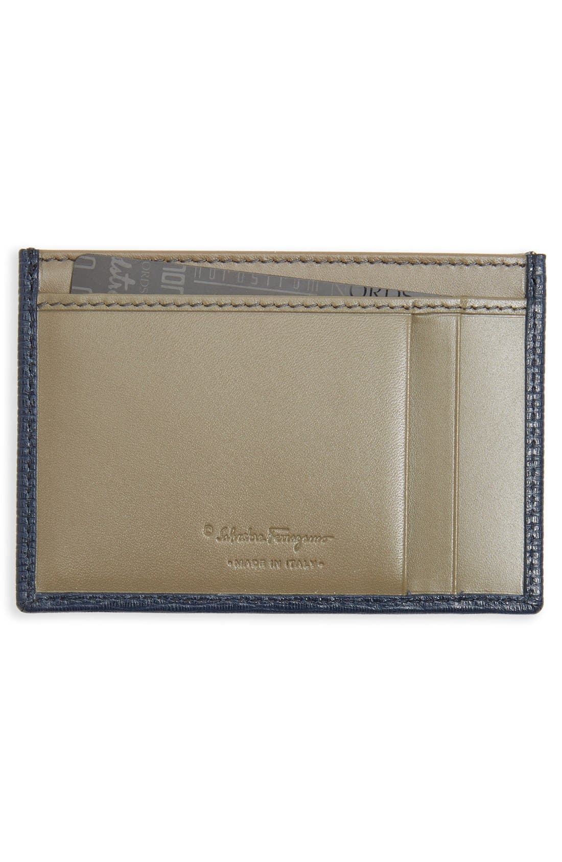 Alternate Image 2  - Salvatore Ferragamo 'New Revival' Leather Card Case