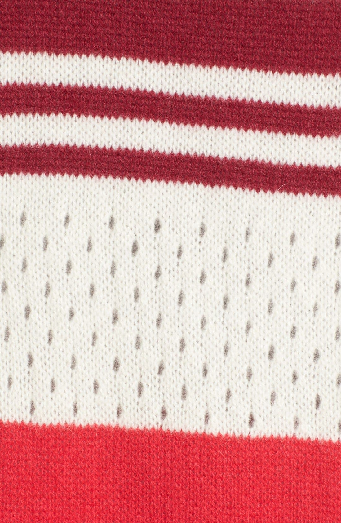 Alternate Image 3  - Halogen® Rugby Stripe Cashmere Muffler