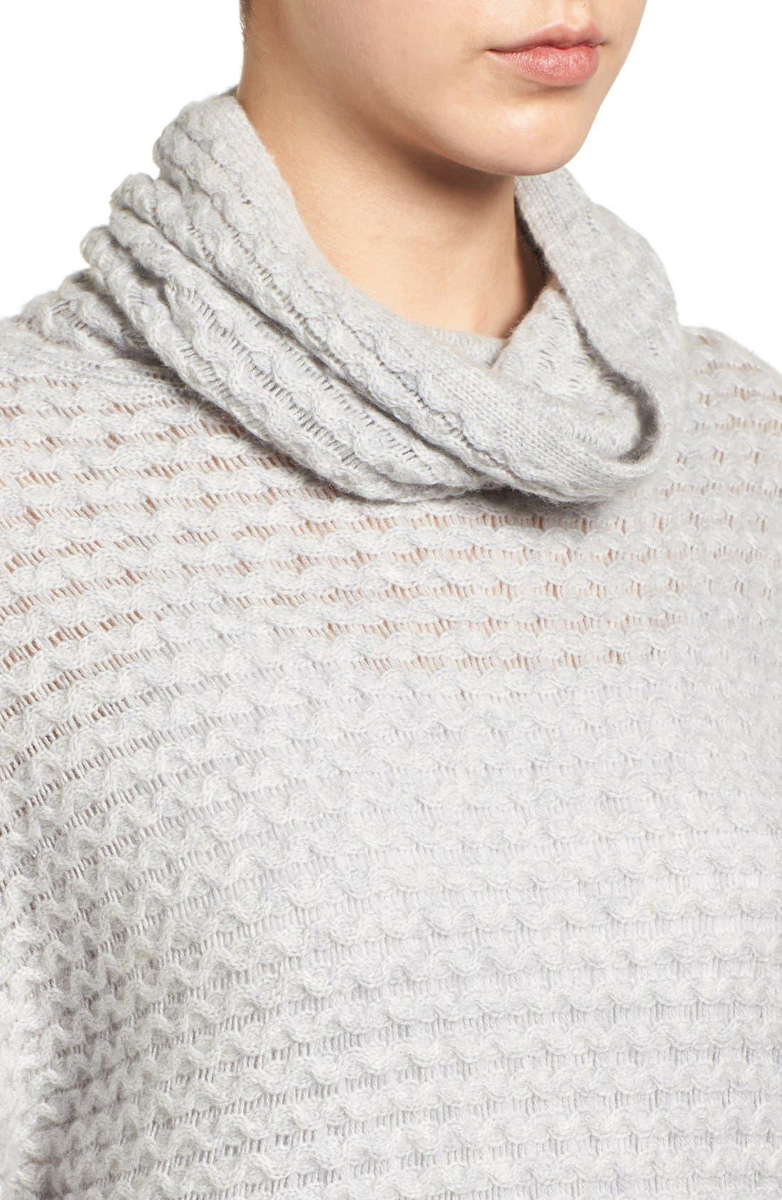 Alternate Image 4  - Halogen® Wool & Cashmere Sweater (Regular & Petite)