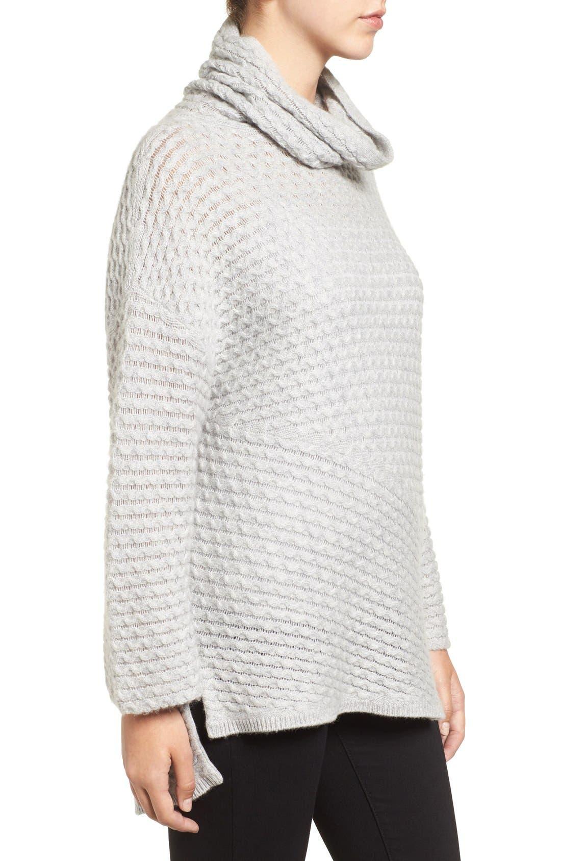 Alternate Image 3  - Halogen® Wool & Cashmere Sweater (Regular & Petite)