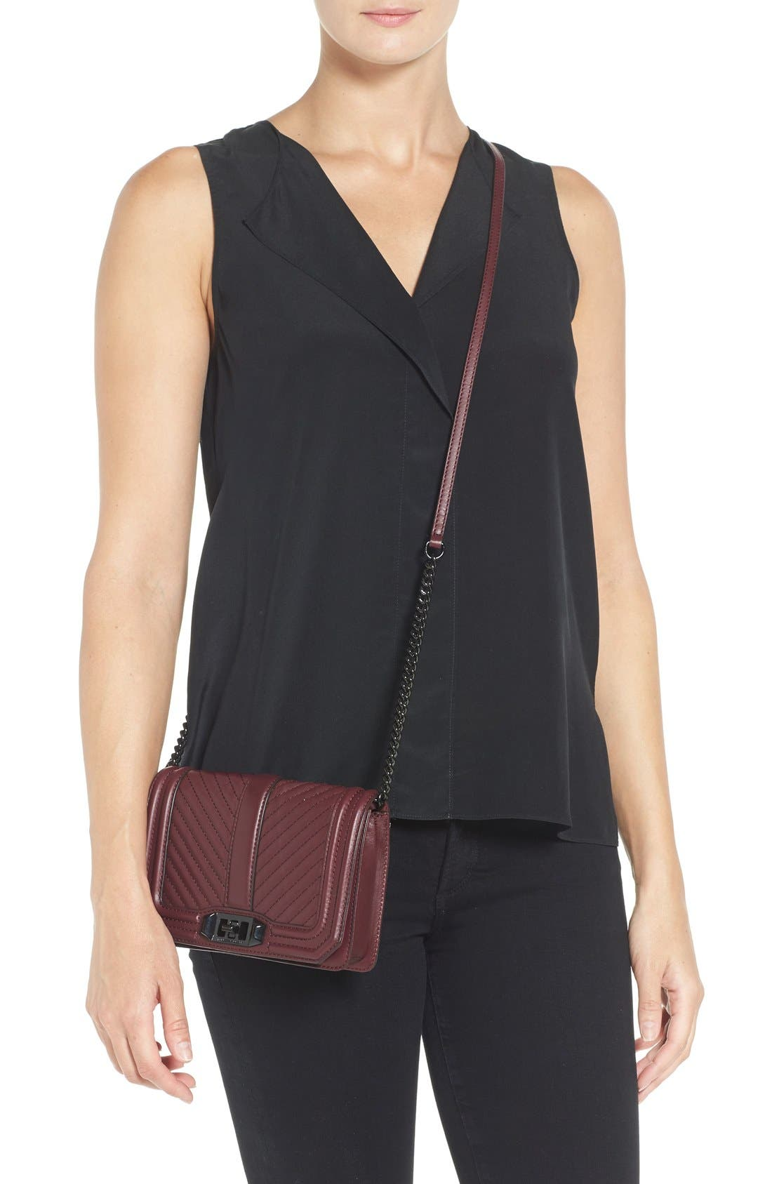 Alternate Image 2  - Rebecca Minkoff Small Love Leather Crossbody Bag