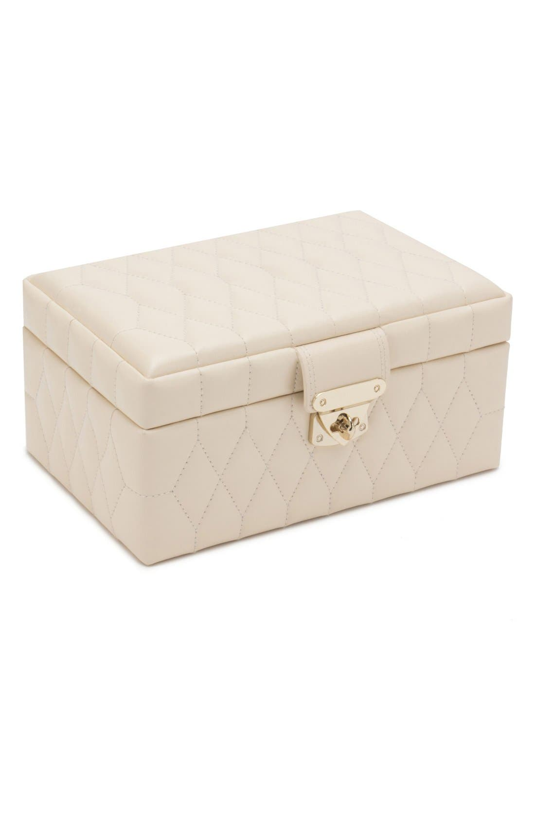 'Caroline' Jewelry Case,                             Alternate thumbnail 7, color,                             Ivory