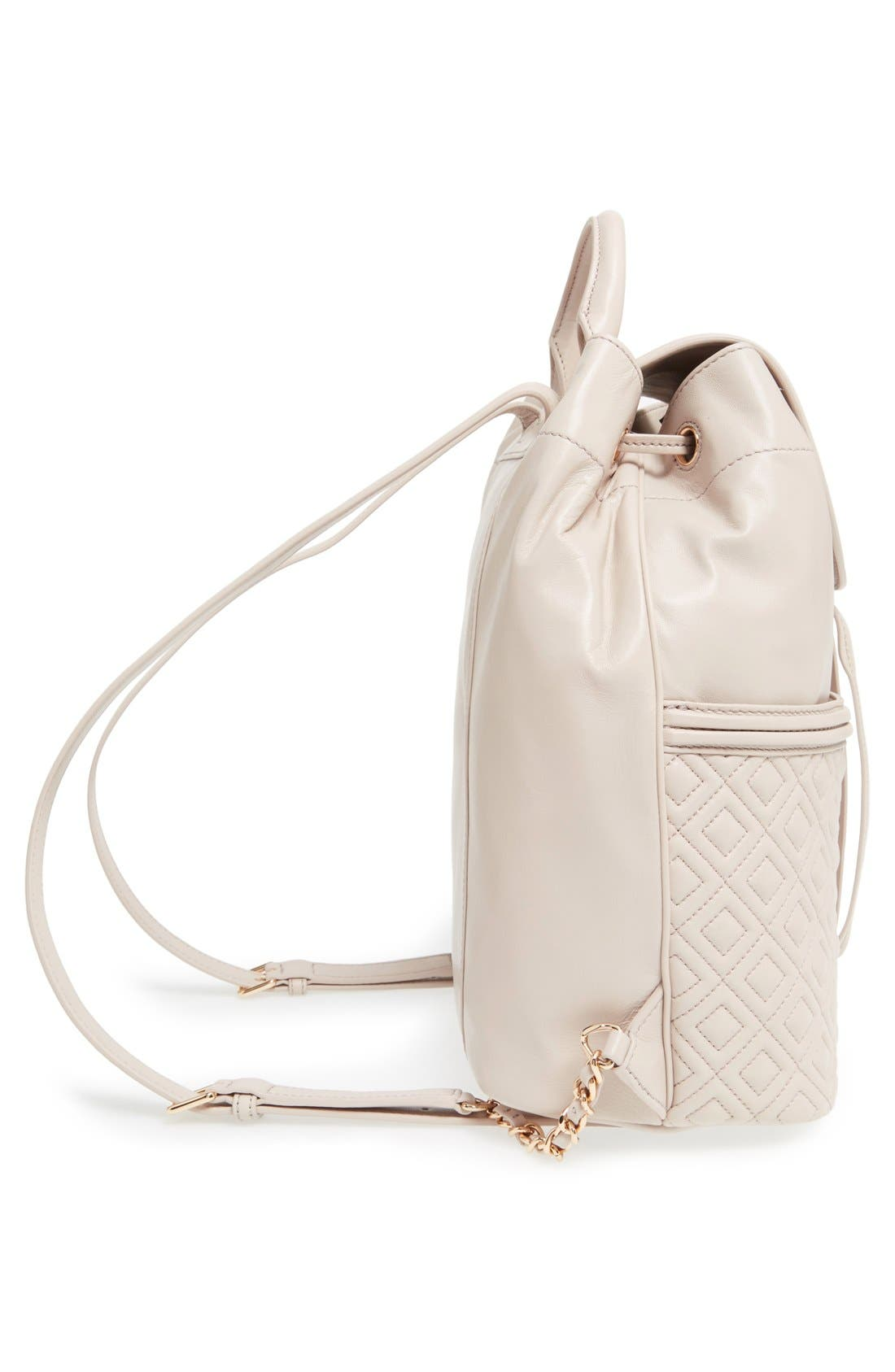 Alternate Image 5  - Tory Burch 'Fleming' Quilted Lambskin Leather Backpack