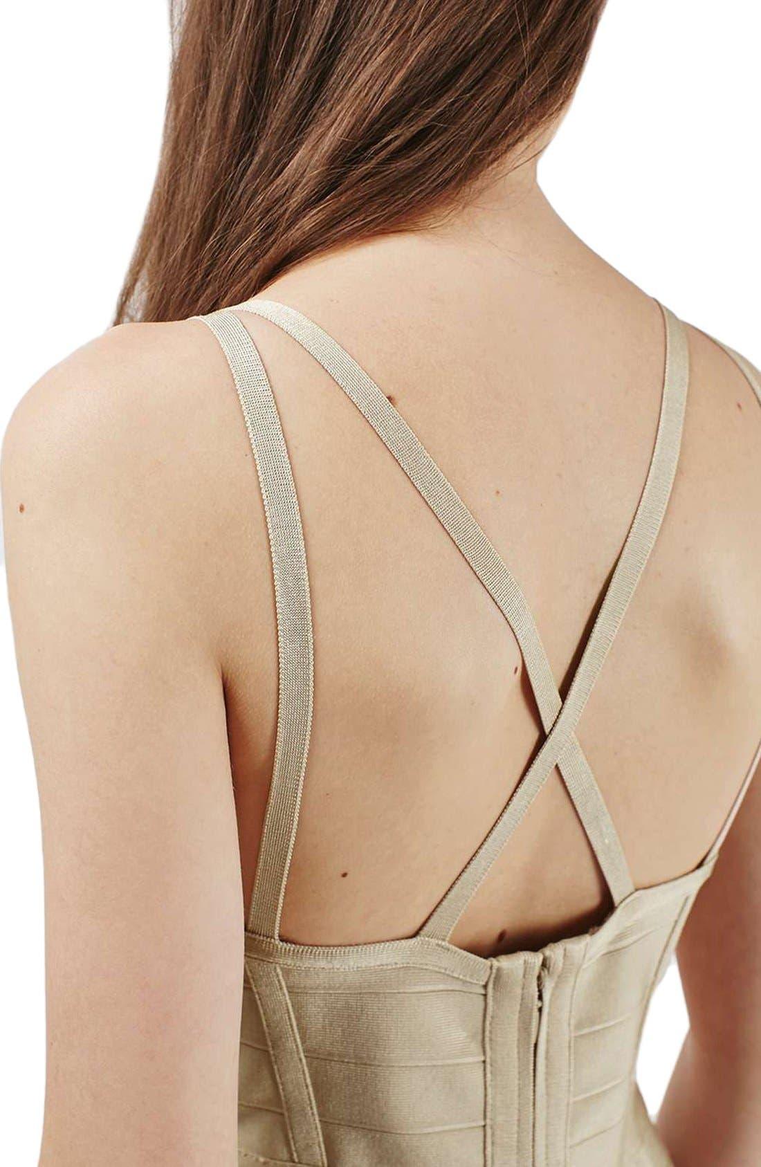 Alternate Image 4  - Topshop Strappy Bandage Body-Con Dress