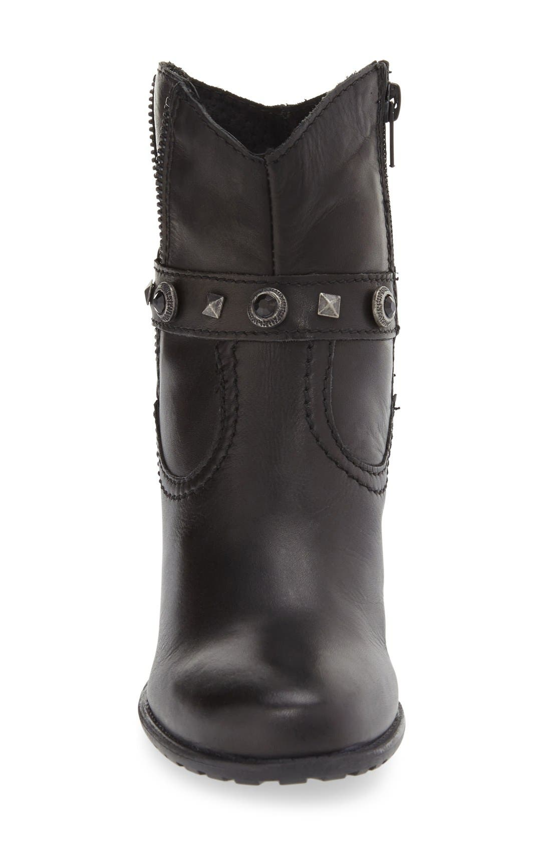 'Ramona' Boot,                             Alternate thumbnail 3, color,                             Black Leather