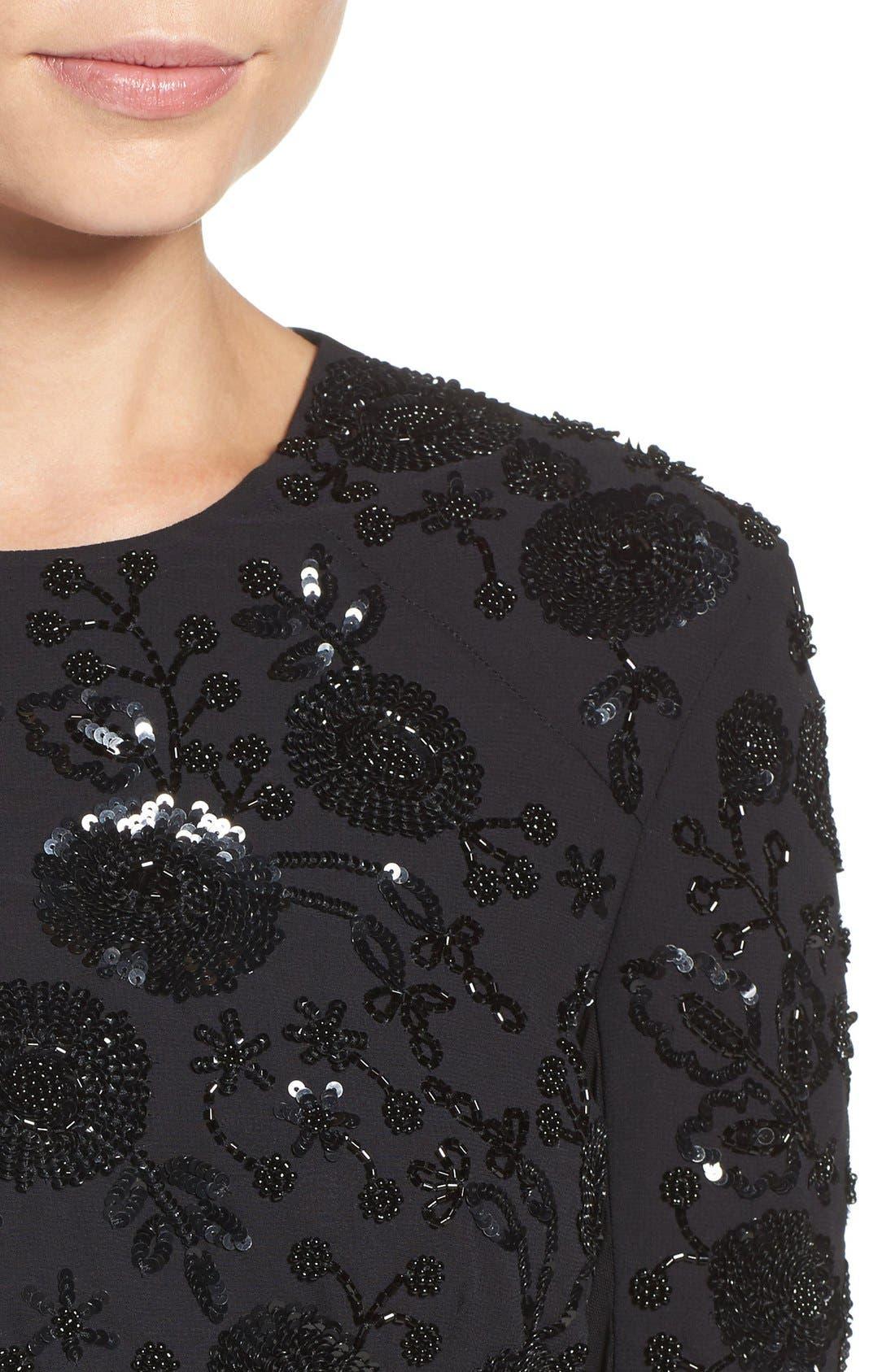 Alternate Image 5  - Needle & Thread Embellished Mesh Sheath Dress