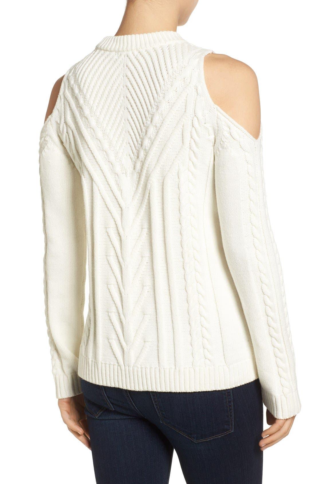Alternate Image 2  - Vince Camuto Cold Shoulder Sweater (Regular & Petite)