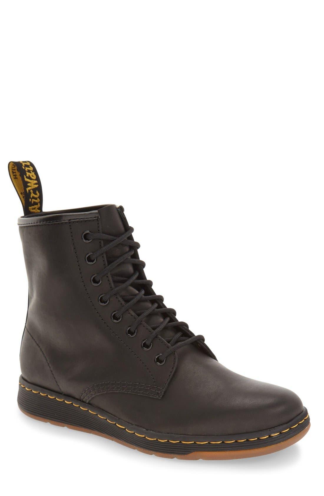 'Newton' Boot,                             Main thumbnail 1, color,                             Black Leather