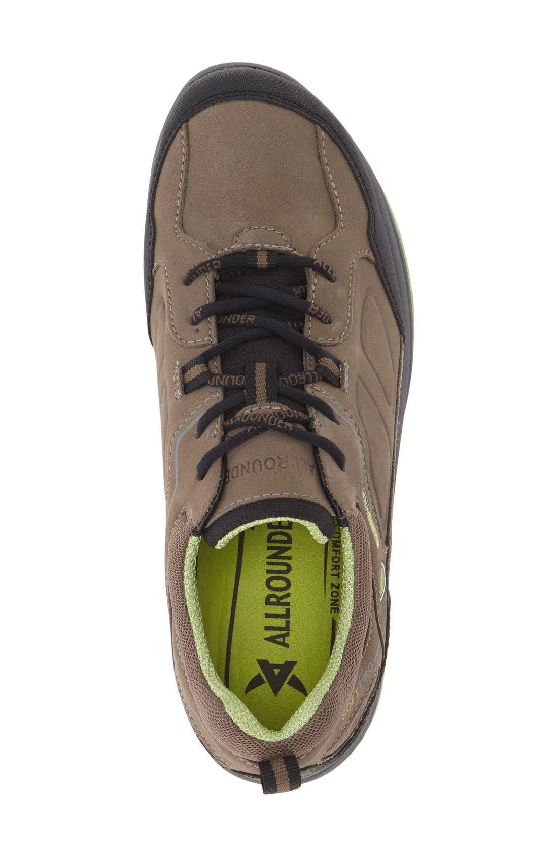 'Dascha Tex' Waterproof Sneaker,                             Alternate thumbnail 3, color,                             Black/ Fog Nubuck Leather