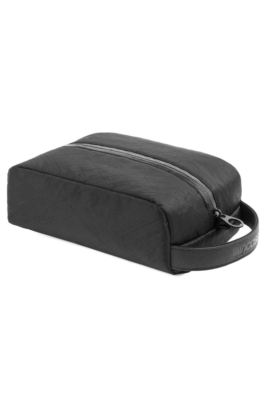 Diamond Wire Dopp Kit,                             Alternate thumbnail 12, color,                             Black