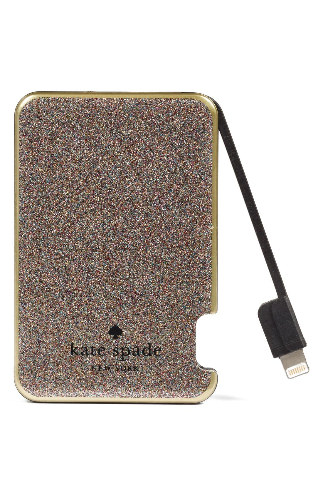 Alternate Image 2  - kate spade new york glitter slim portable charger